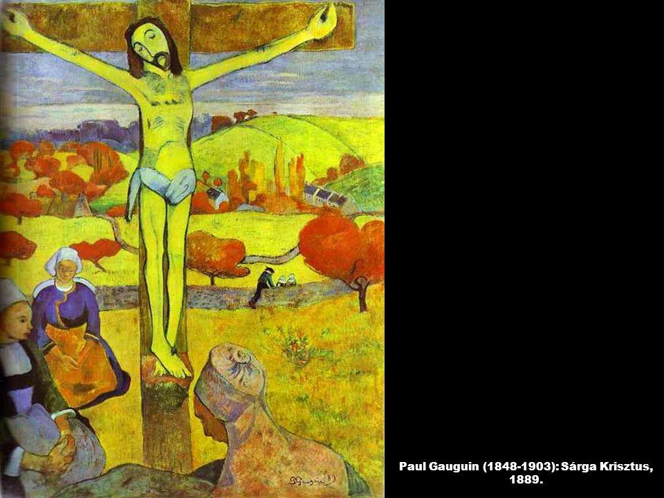 Paul Gauguin (1848-1903): Sárga Krisztus, 1889.