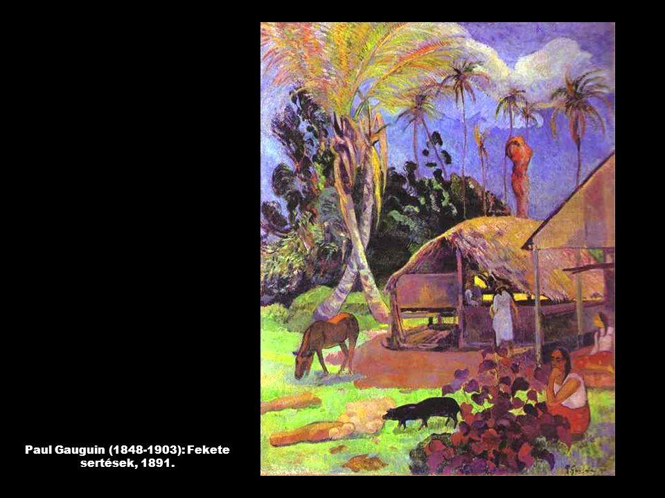Paul Gauguin (1848-1903): Fekete sertések, 1891.