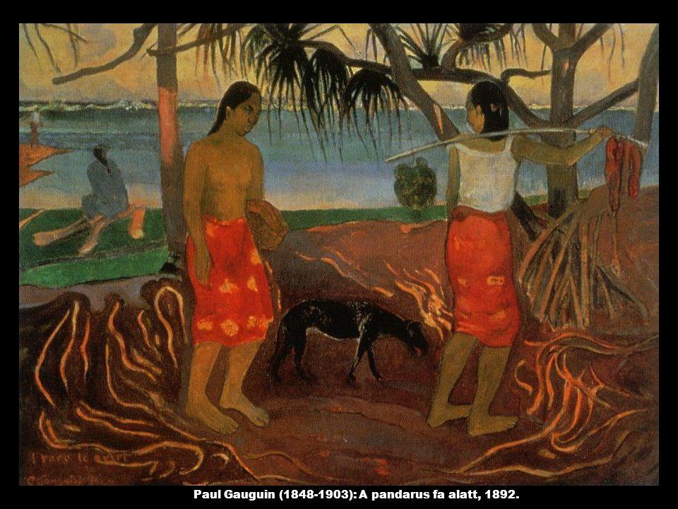 Paul Gauguin (1848-1903): A pandarus fa alatt, 1892.