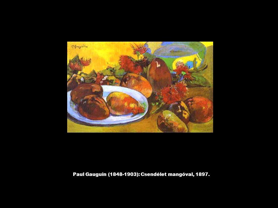 Paul Gauguin (1848-1903): Csendélet mangóval, 1897.