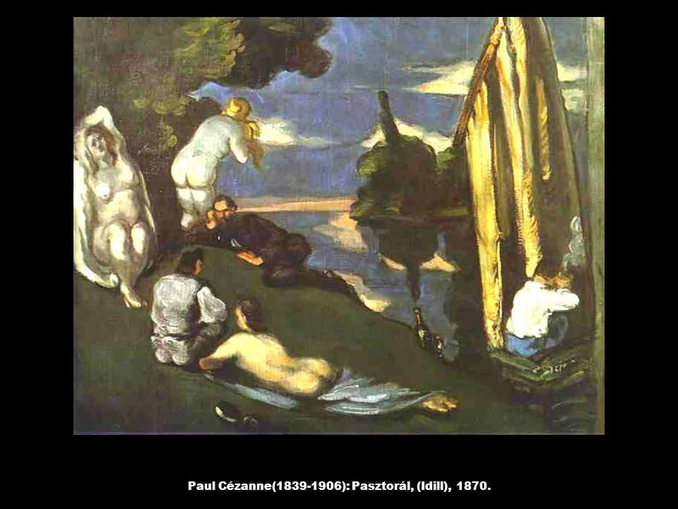 Paul Cézanne(1839-1906): Pasztorál, (Idill), 1870.