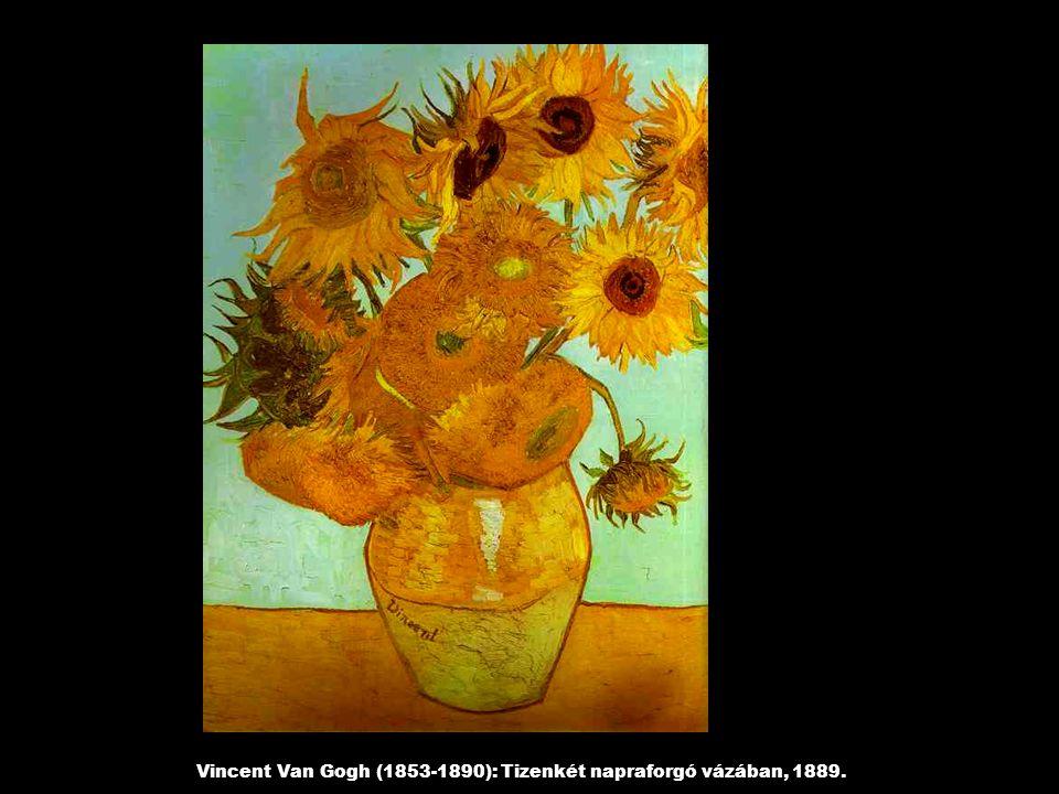 Vincent Van Gogh (1853-1890): Tizenkét napraforgó vázában, 1889.