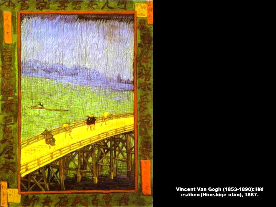 Vincent Van Gogh (1853-1890): Híd esőben (Hiroshige után), 1887.