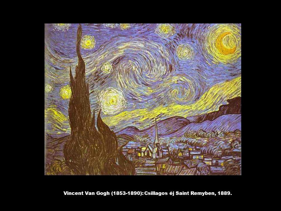 Vincent Van Gogh (1853-1890): Csillagos éj Saint Remyben, 1889.