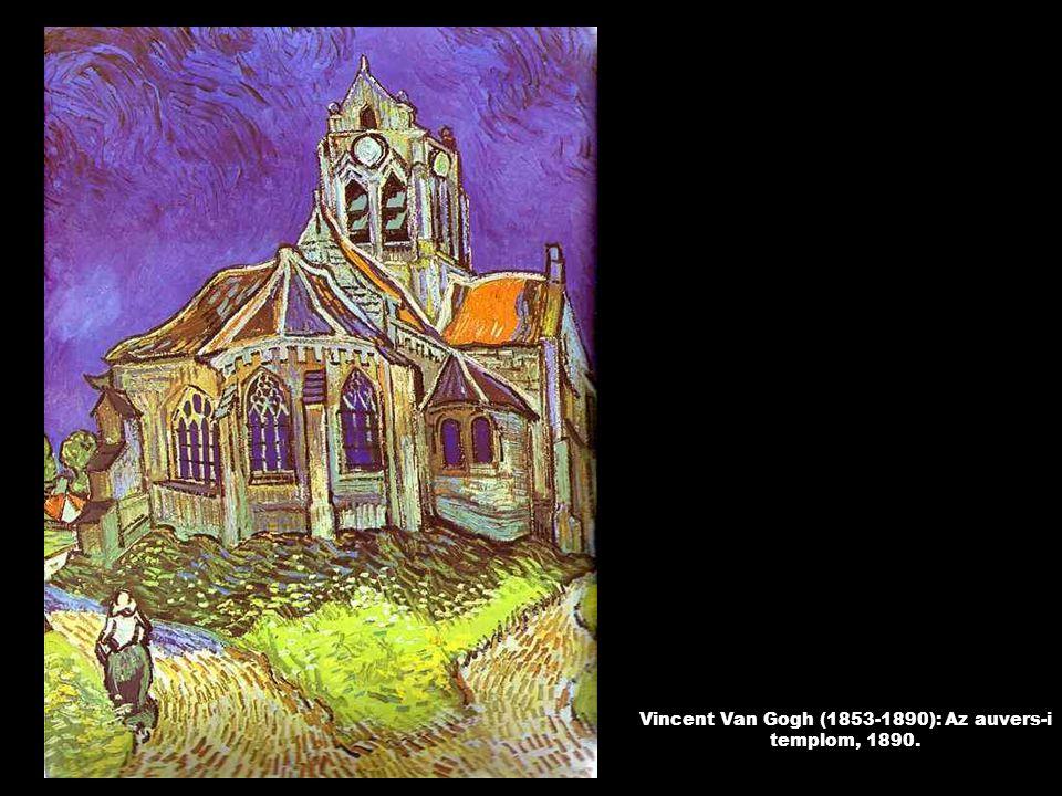 Vincent Van Gogh (1853-1890): Az auvers-i templom, 1890.