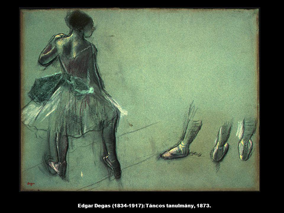Edgar Degas (1834-1917): Táncos tanulmány, 1873.