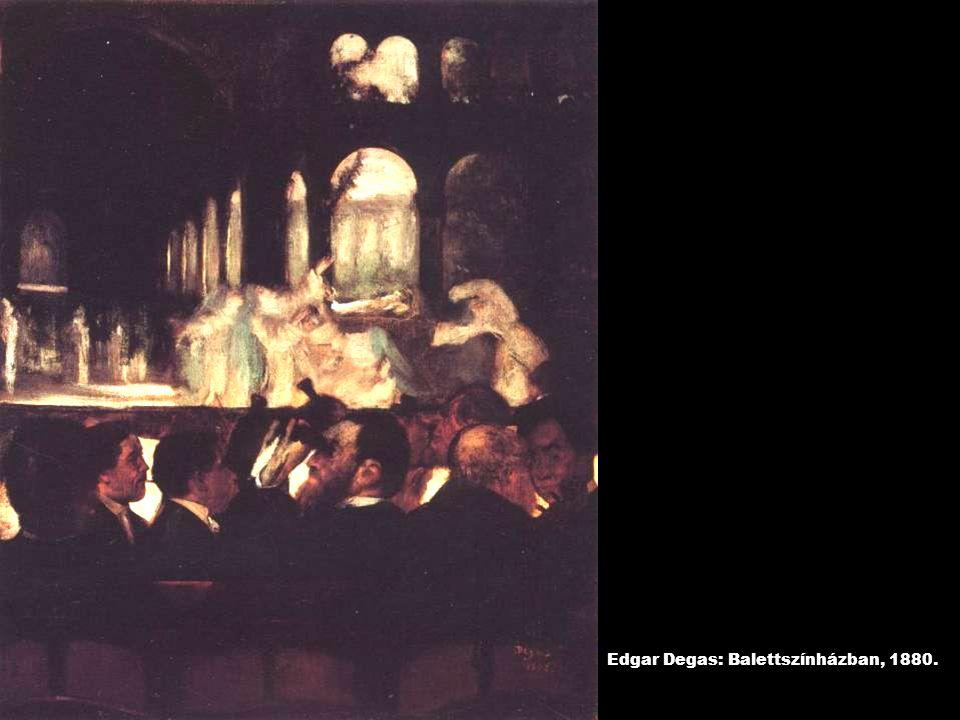 Edgar Degas: Balettszínházban, 1880.