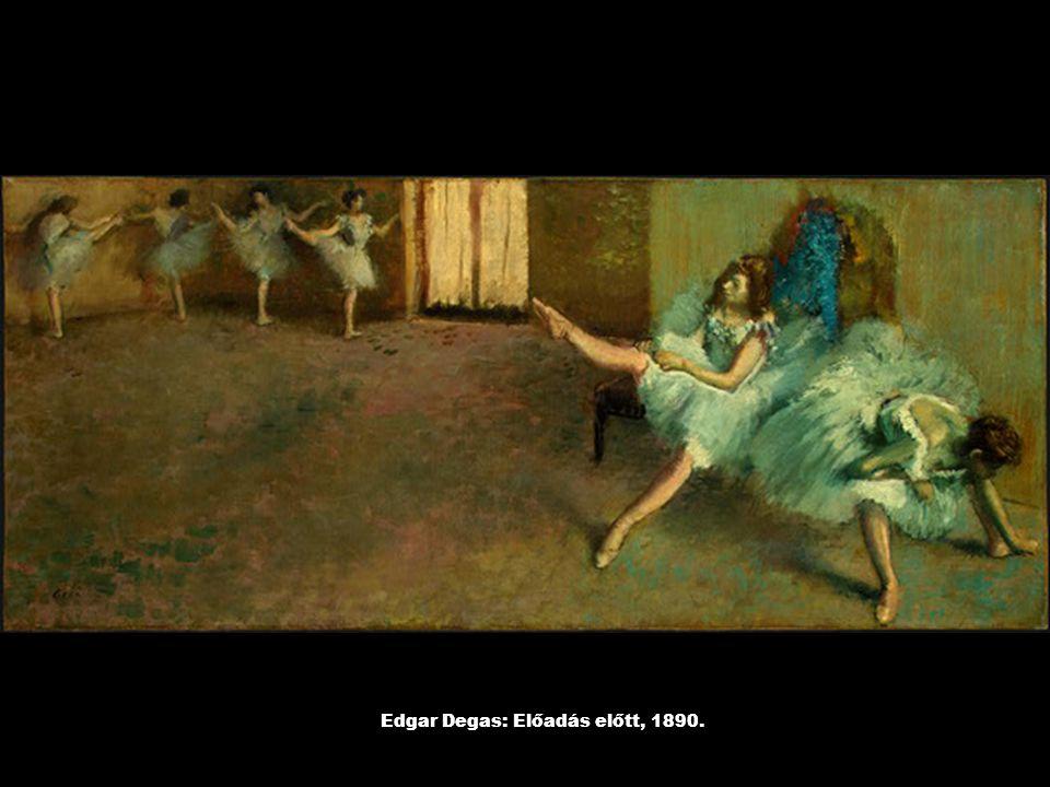 Edgar Degas: Előadás előtt, 1890.