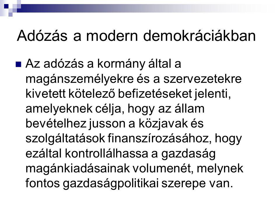 Adózás a modern demokráciákban