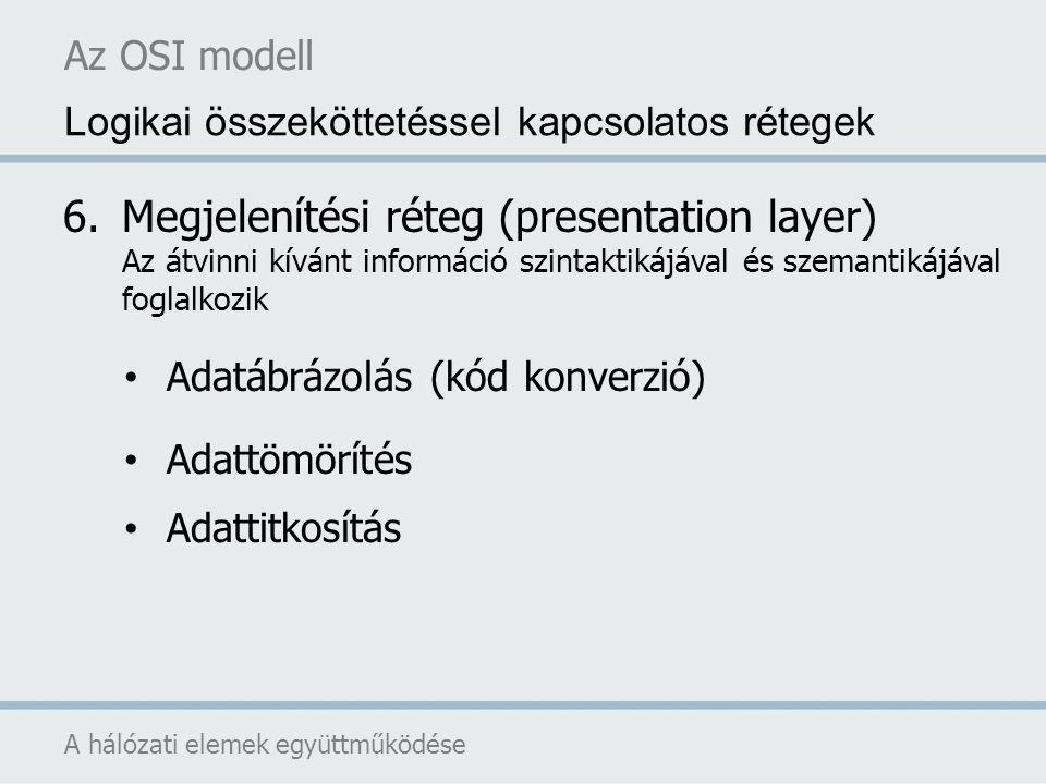 Az OSI modell Logikai összeköttetéssel kapcsolatos rétegek.