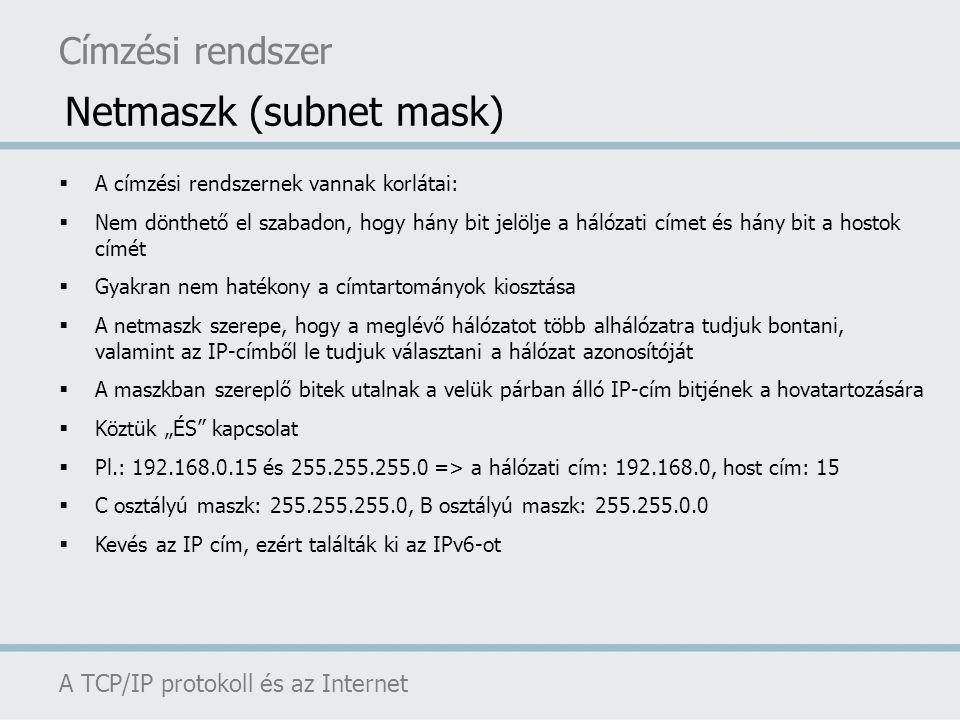 Netmaszk (subnet mask)