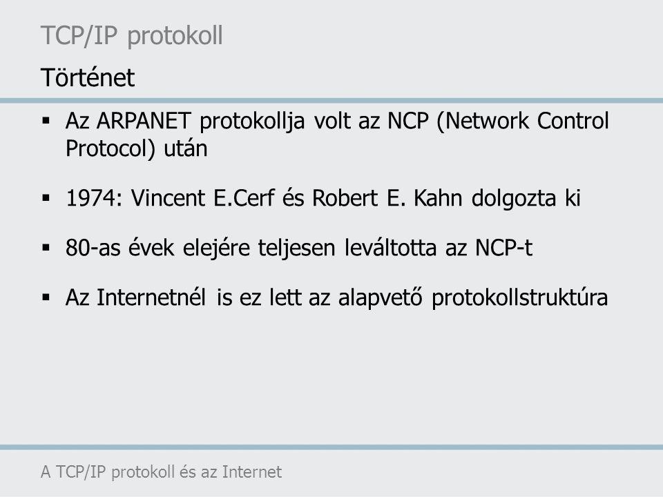 TCP/IP protokoll Történet