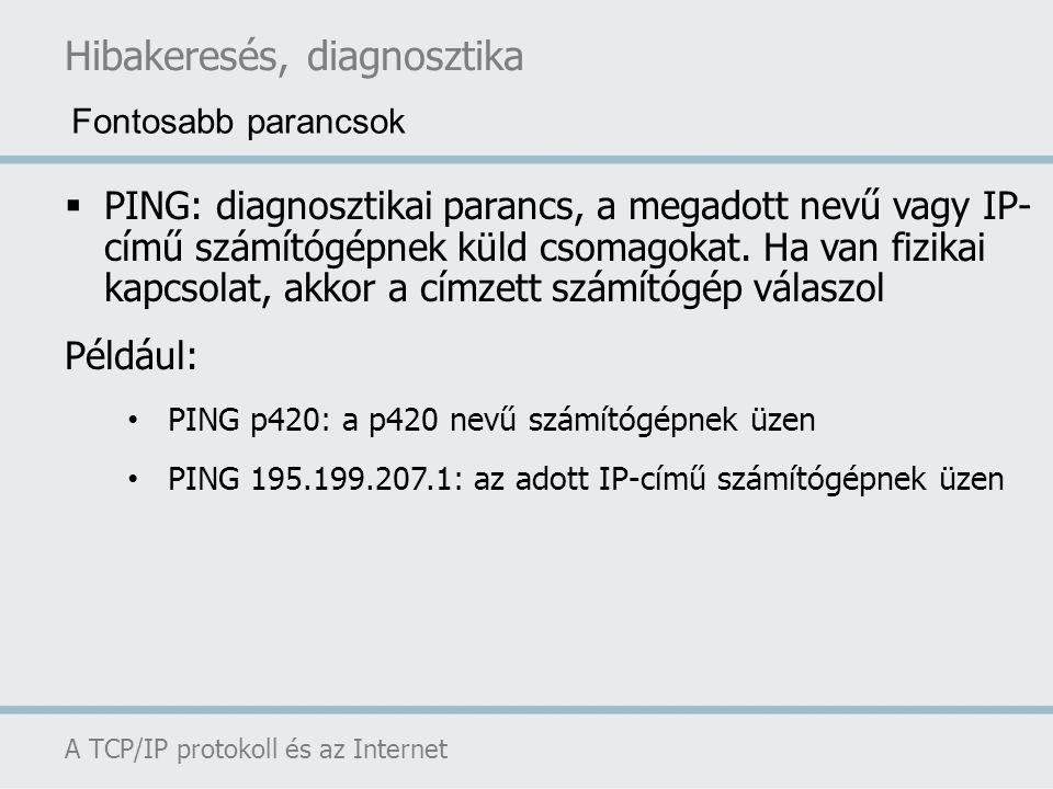 Hibakeresés, diagnosztika