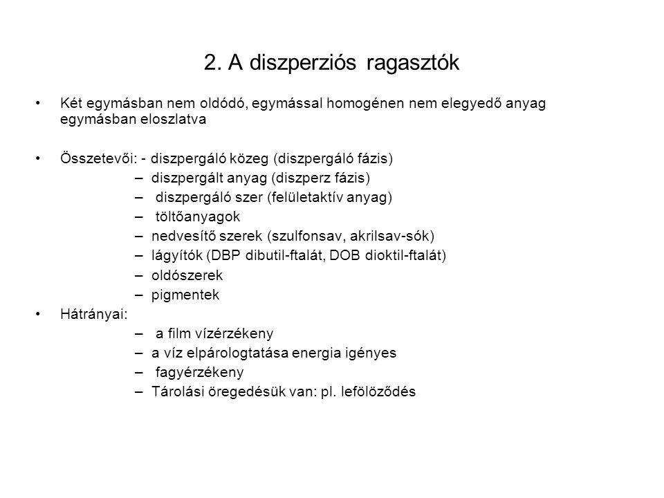 2. A diszperziós ragasztók
