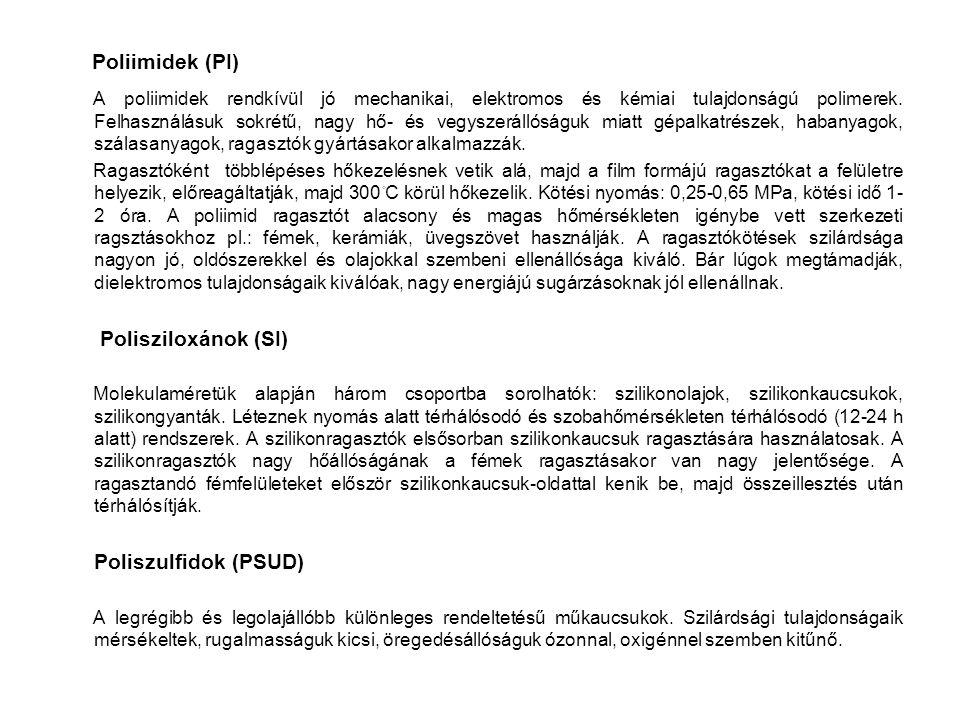 Poliimidek (PI) Polisziloxánok (SI)