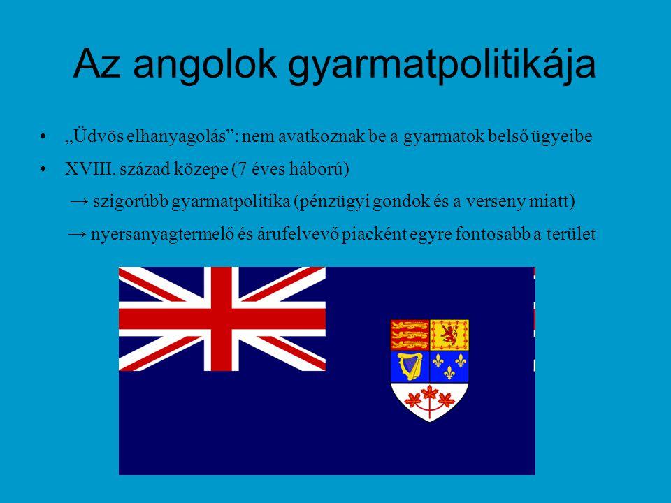 Az angolok gyarmatpolitikája