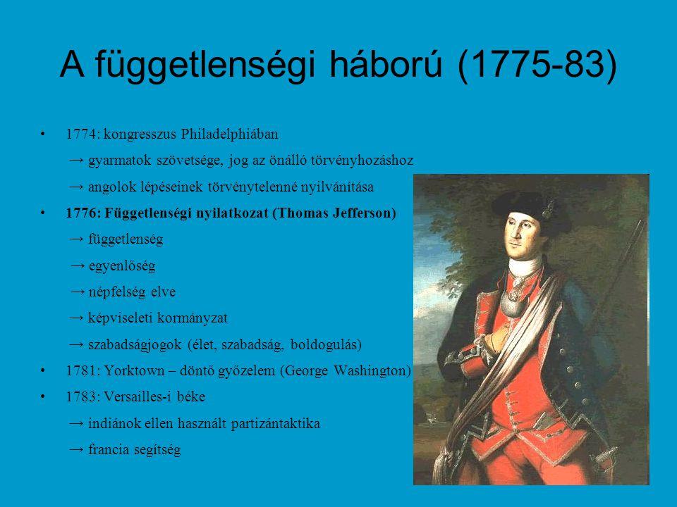 A függetlenségi háború (1775-83)