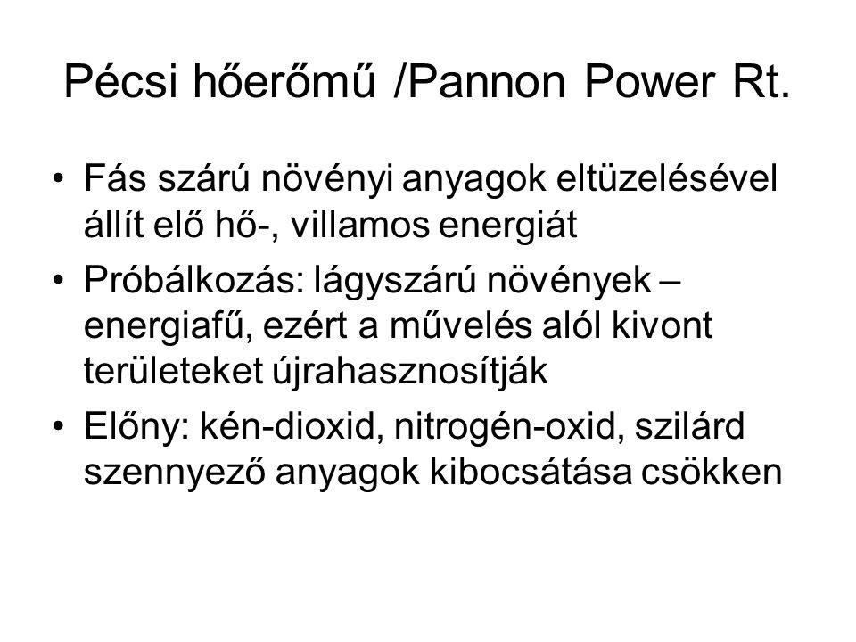 Pécsi hőerőmű /Pannon Power Rt.