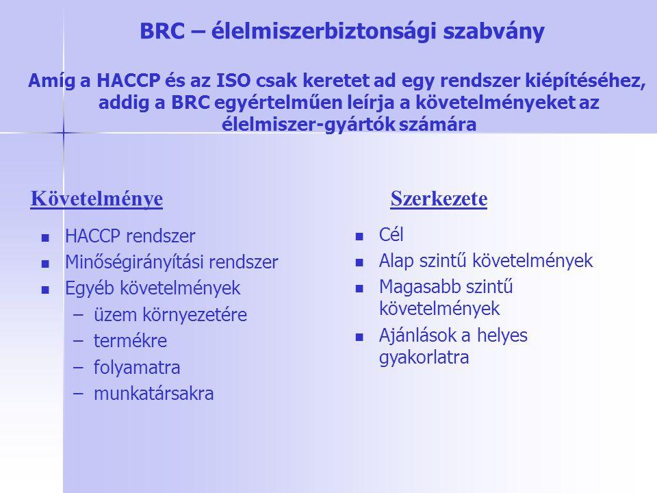 BRC – élelmiszerbiztonsági szabvány