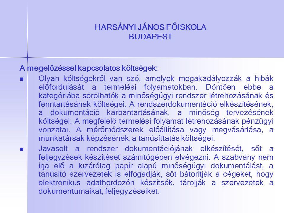 HARSÁNYI JÁNOS FŐISKOLA BUDAPEST