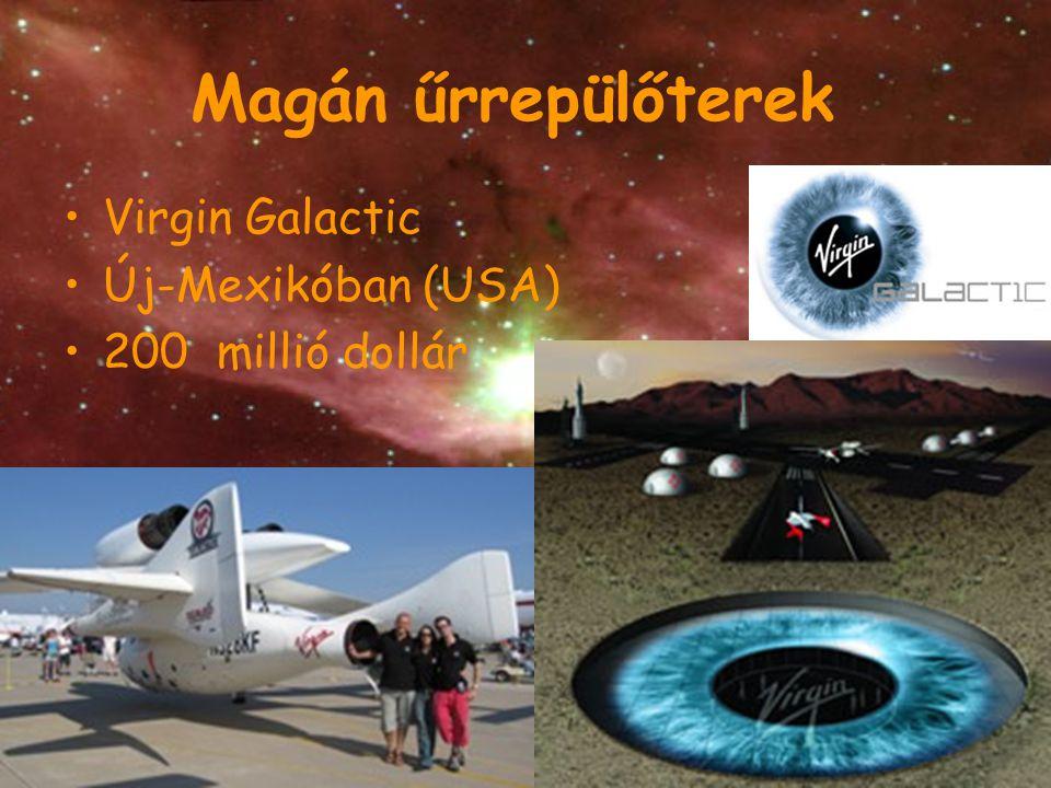 Magán űrrepülőterek Virgin Galactic Új-Mexikóban (USA)