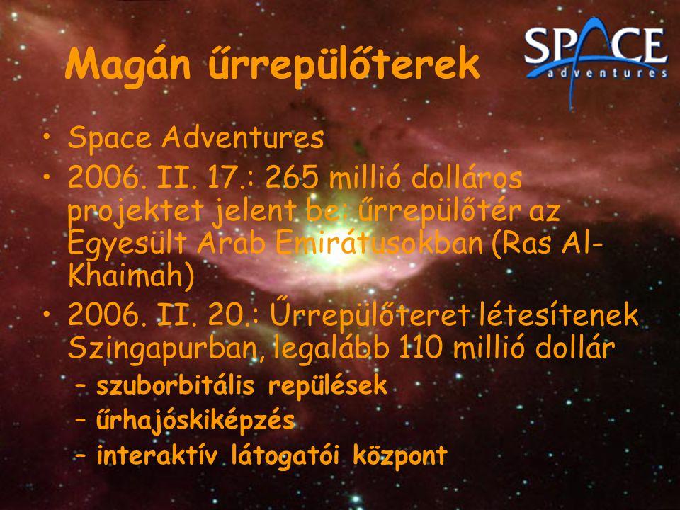 Magán űrrepülőterek Space Adventures