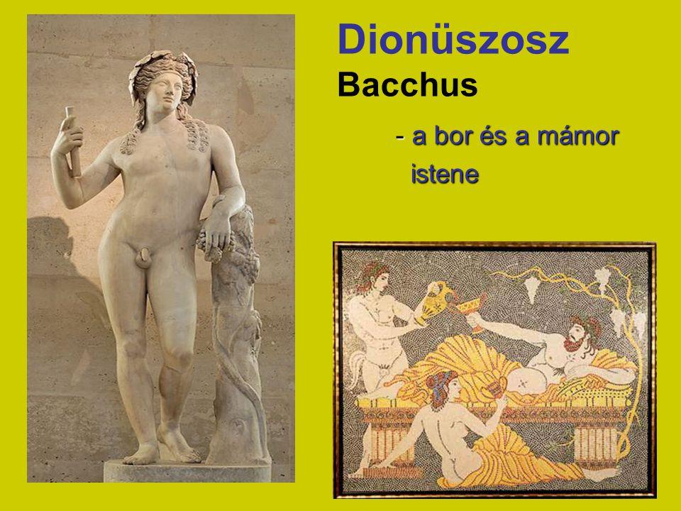 Dionüszosz Bacchus - a bor és a mámor istene