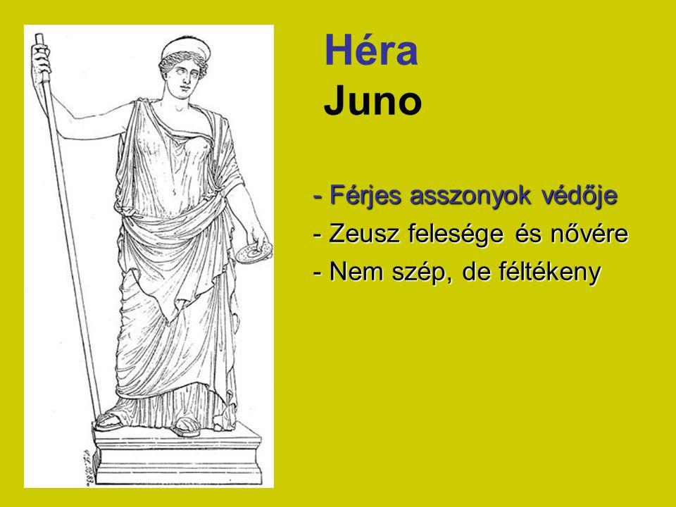 Héra Juno - Férjes asszonyok védője - Zeusz felesége és nővére