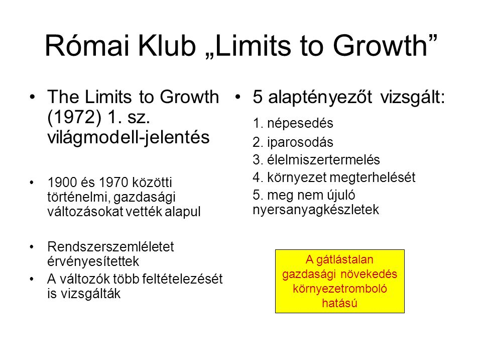 "Római Klub ""Limits to Growth"