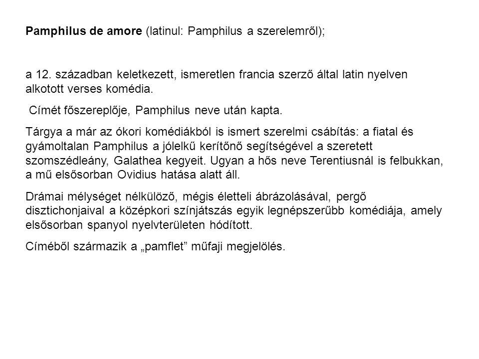 Pamphilus de amore (latinul: Pamphilus a szerelemről);