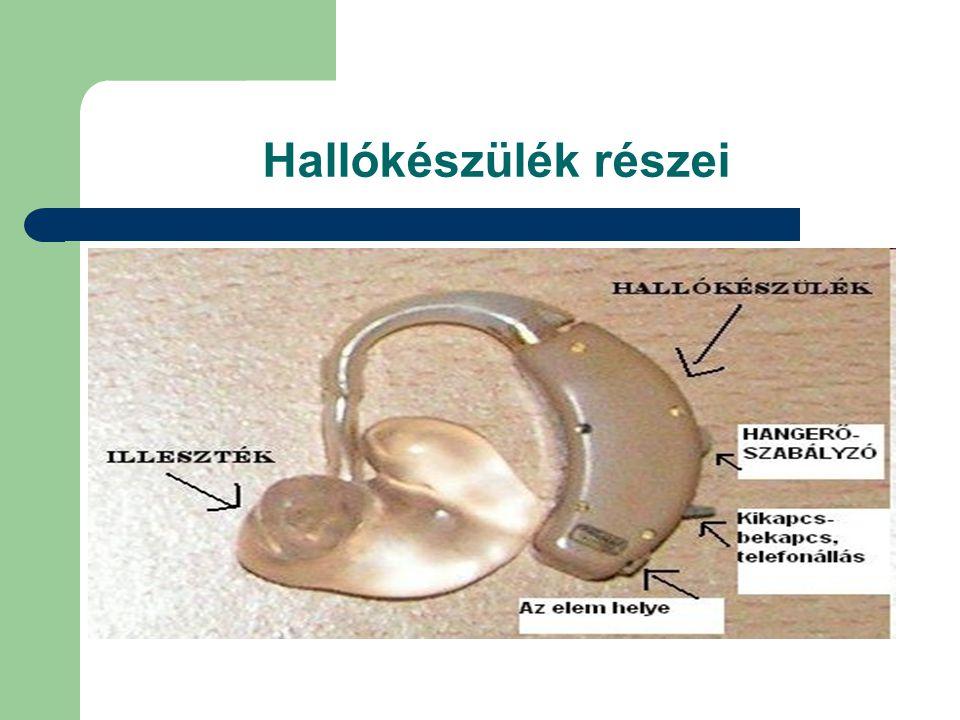 Hallókészülék részei