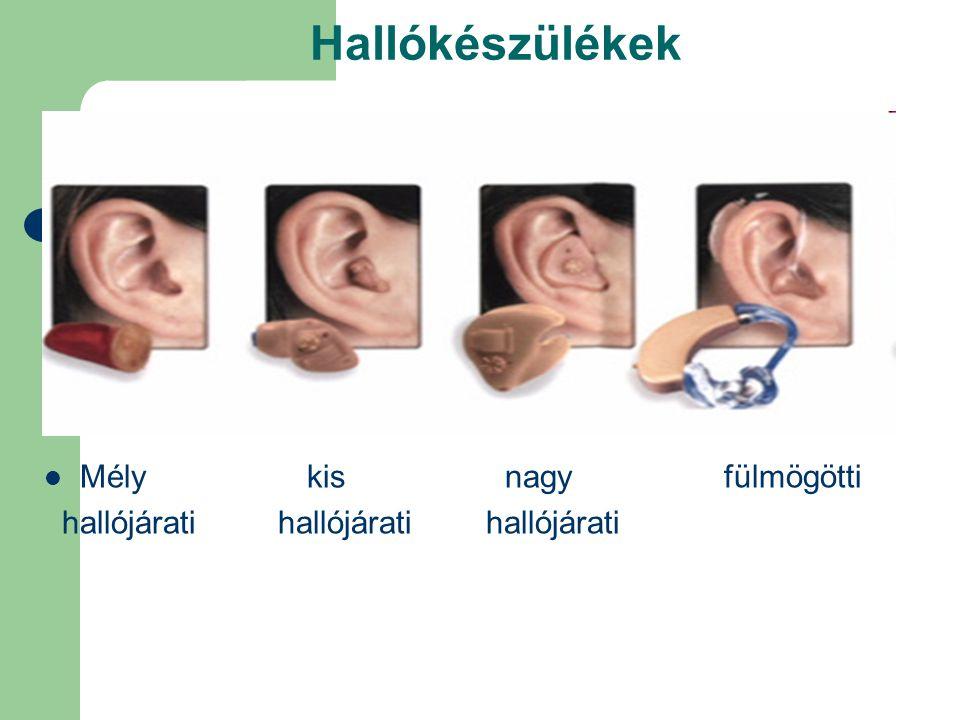 Hallókészülékek Mély kis nagy fülmögötti