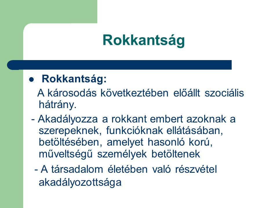 Rokkantság Rokkantság:
