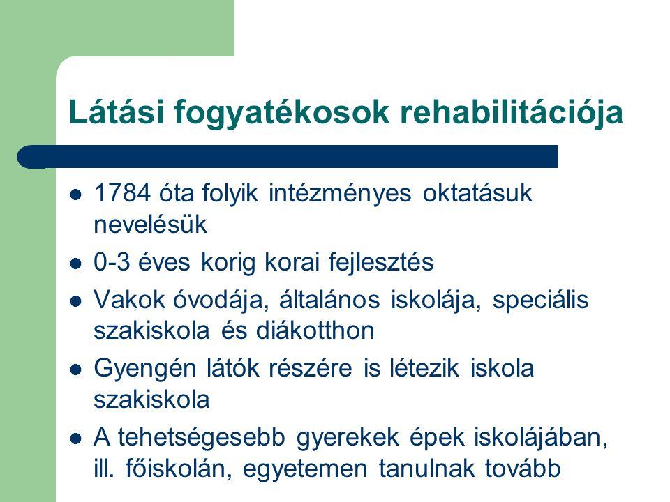 Látási fogyatékosok rehabilitációja