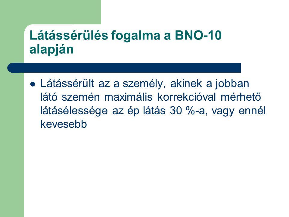 Látássérülés fogalma a BNO-10 alapján
