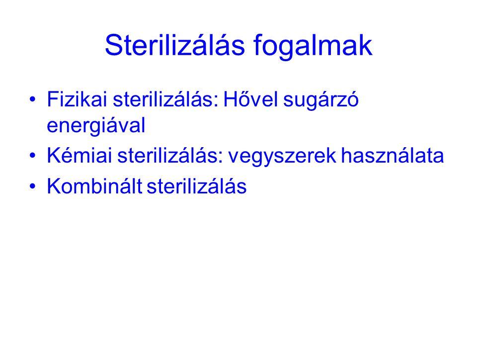Sterilizálás fogalmak