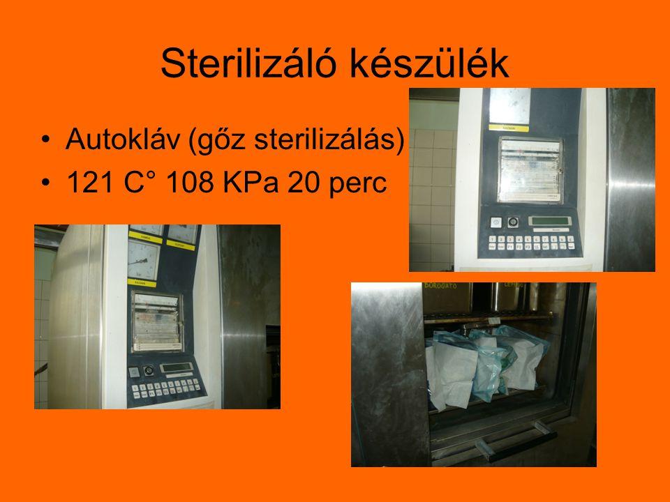 Sterilizáló készülék Autokláv (gőz sterilizálás)