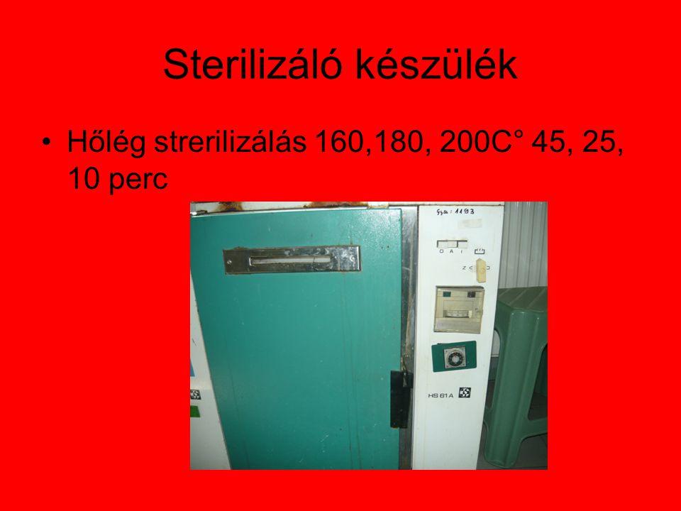 Sterilizáló készülék Hőlég strerilizálás 160,180, 200C° 45, 25, 10 perc