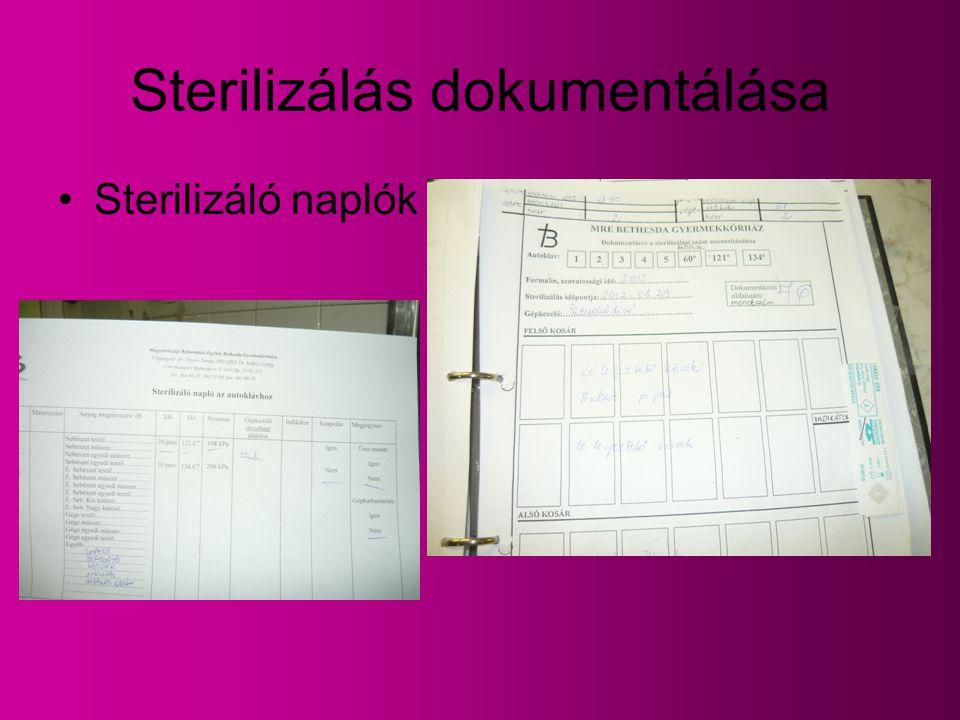 Sterilizálás dokumentálása