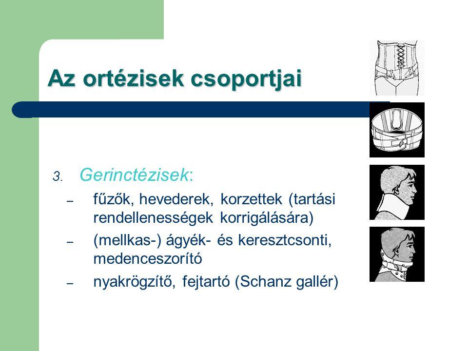 Az ortézisek csoportjai