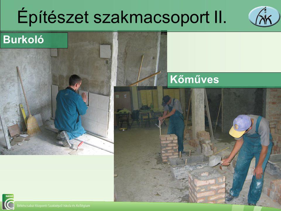 Építészet szakmacsoport II.