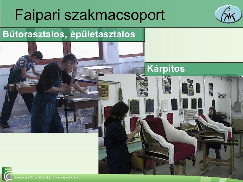 Faipari szakmacsoport