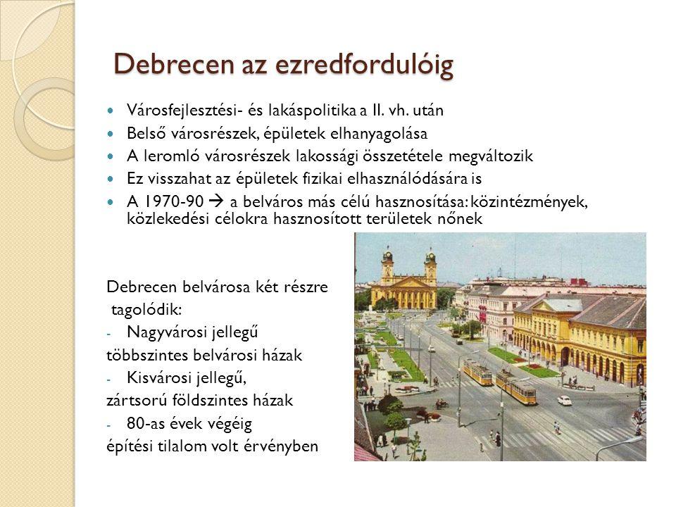 Debrecen az ezredfordulóig
