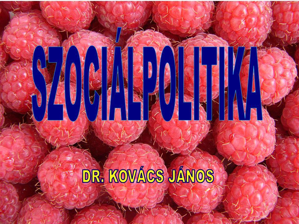 SZOCIÁLPOLITIKA DR. KOVÁCS JÁNOS