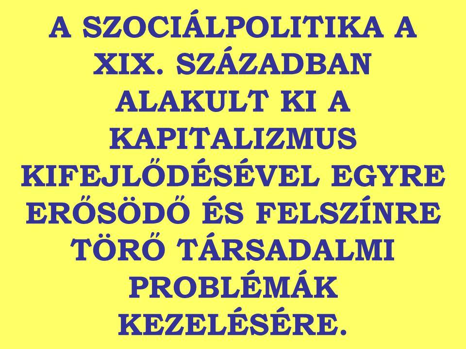 A SZOCIÁLPOLITIKA A XIX