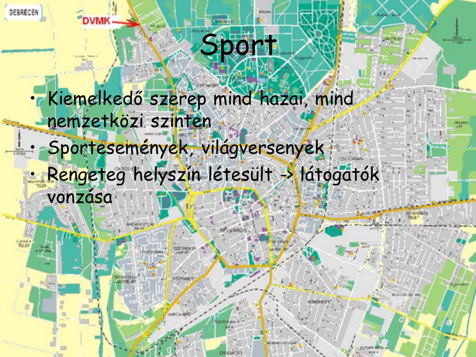 Sport Kiemelkedő szerep mind hazai, mind nemzetközi szinten