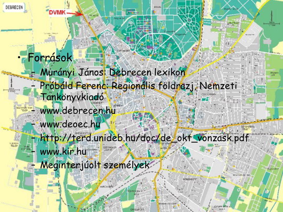 Források Murányi János: Debrecen lexikon