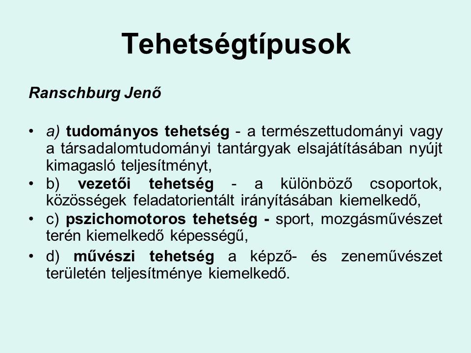 Tehetségtípusok Ranschburg Jenő