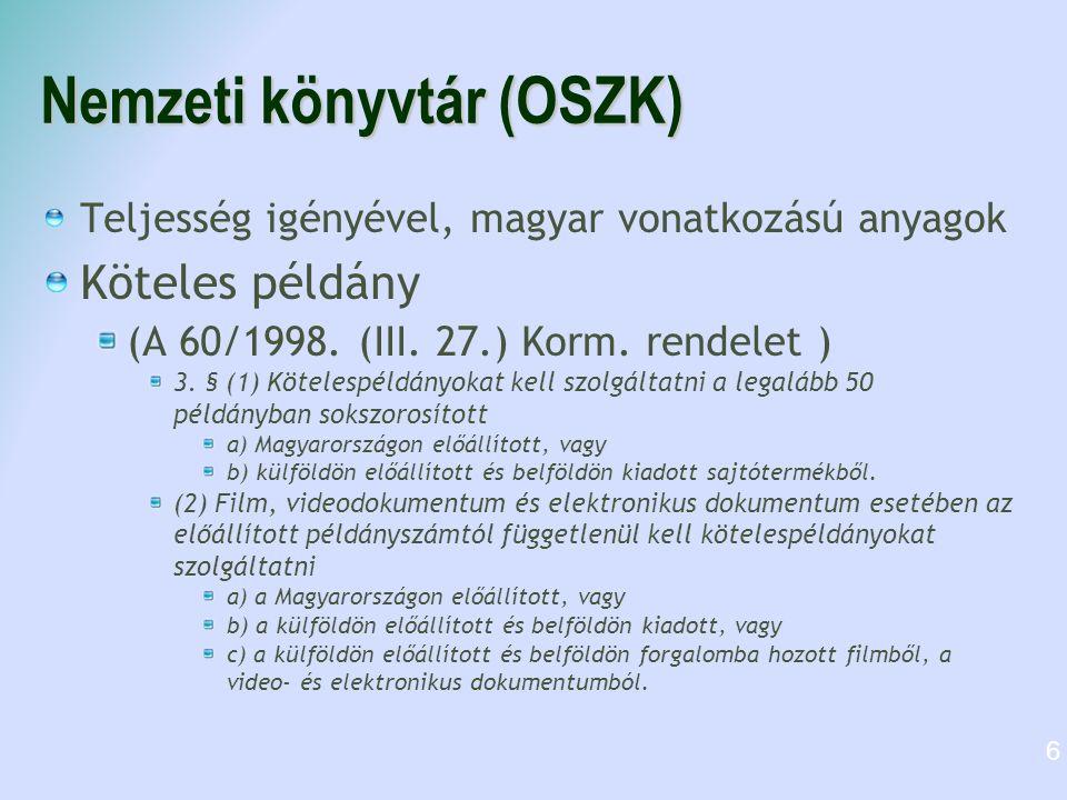 Nemzeti könyvtár (OSZK)