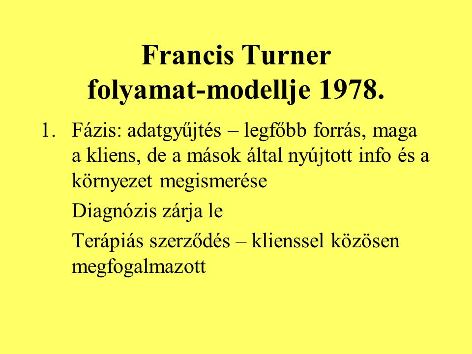 Francis Turner folyamat-modellje 1978.